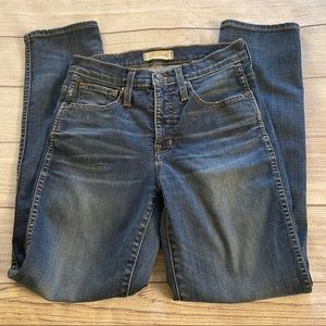 Madewell || Slim Straight Jeans Size 25